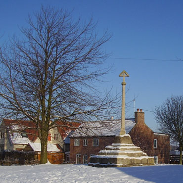 The town cross in Muston