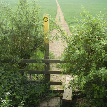 Leicestershire marker post & stile