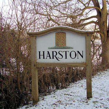 Harston village sign
