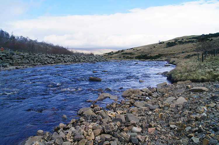 The River Tees flows toward High Force