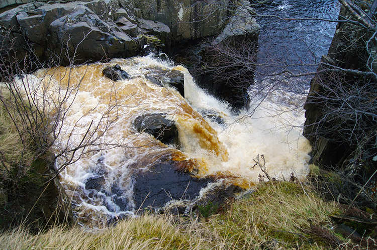 The River Tees plunges over High Force