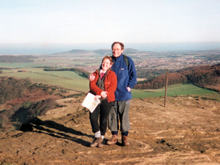 Lil and me on Roseberry Topping