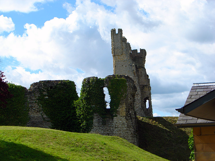 A defiant tower of Helmsley Castle