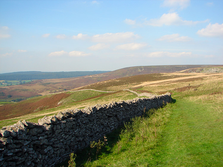 Descending from the moor to Nab Farm