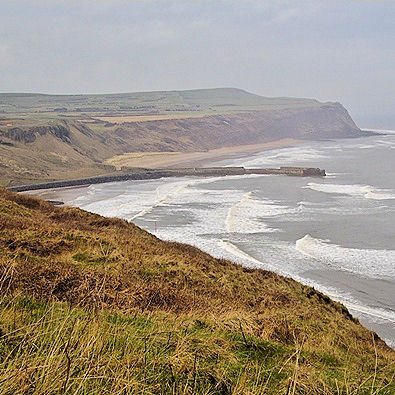 Skinningrove jetty and Cattersty Sands