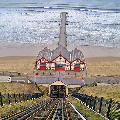 Saltburn by the Sea pier and cliff railway