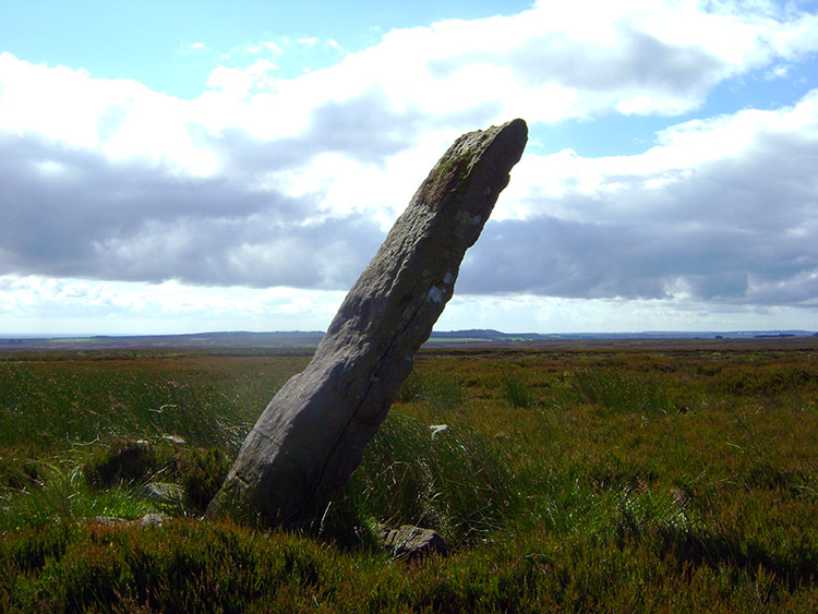 The Long Rod Stone on Dallow Moor