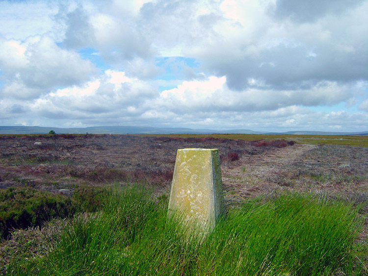Trig point on Kettlestang Hill