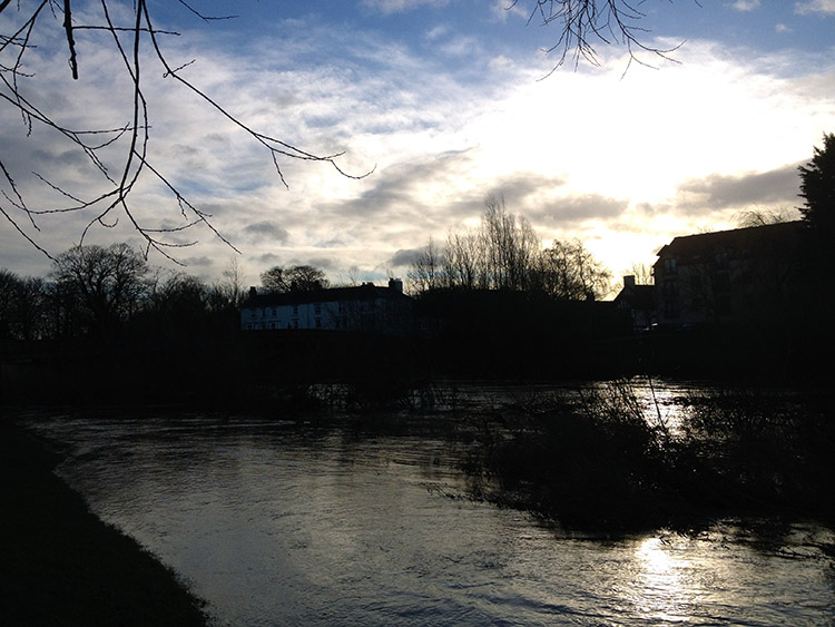 The River Ure on a winter's morning in Boroughbridge