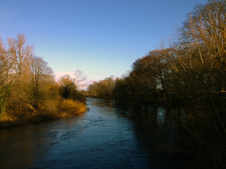 River Ure on a winter's afternoon in Boroughbridge