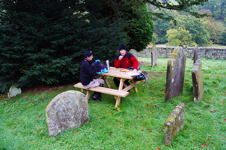 Lunch in the graveyard