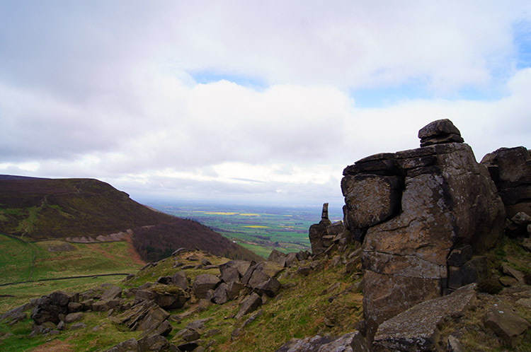 Looking to Cringle Moor from Wain Stones