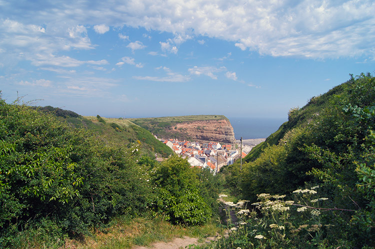 Looking back to Staithes