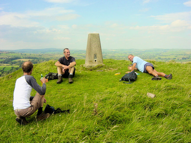 Ecton Hill trig point, 369m high
