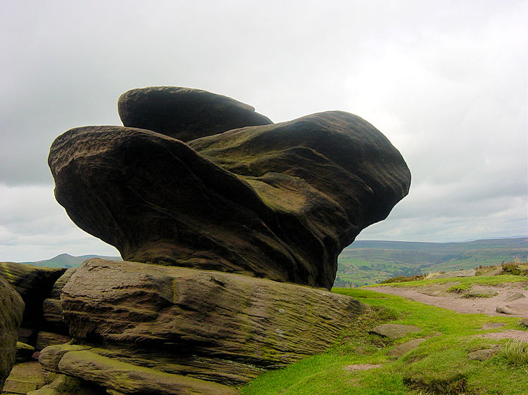 Wonderful weather shaped rock
