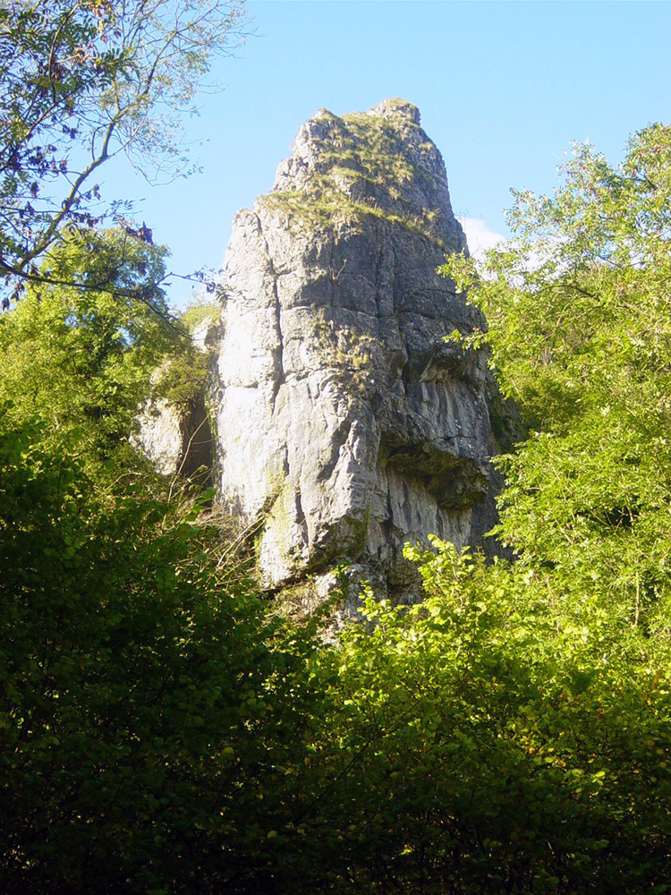 Ilam Rock stands high, a majestic pinnacle