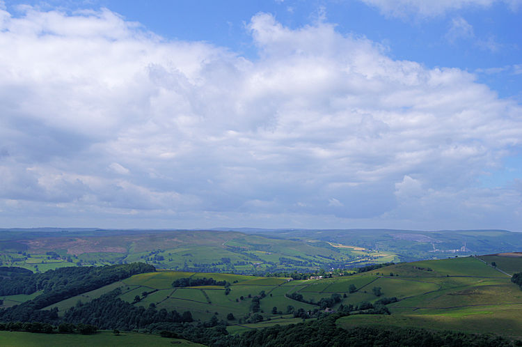 Looking south-west across Hope valley