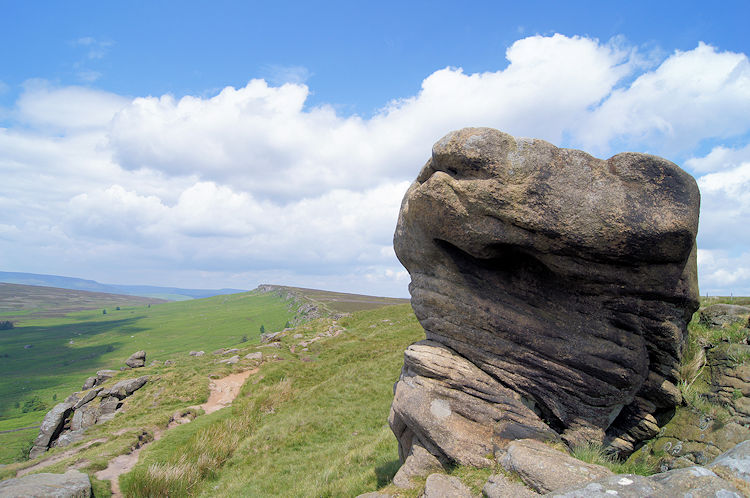 Gritstone monolith on Stanage Edge