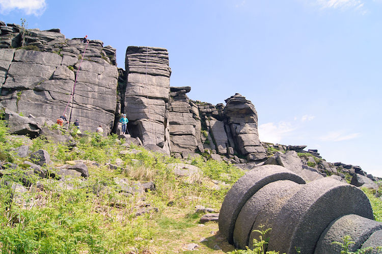 Millstones and rock climbers