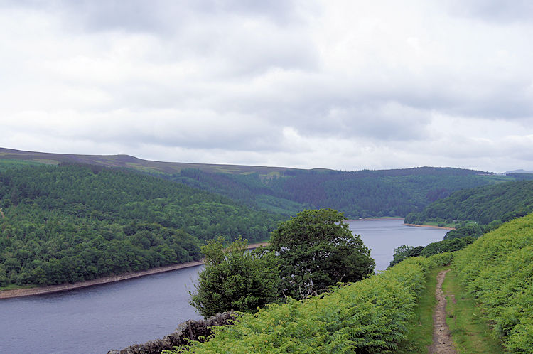 First sight of Ladybower Reservoir