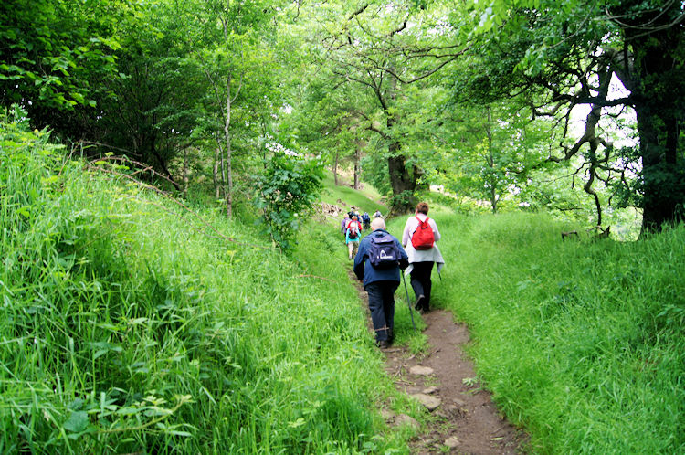 Huddersfield Ramblers on the climb to Pike Low