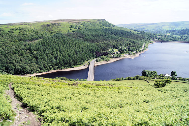The road across Ladybower Reservoir Dam