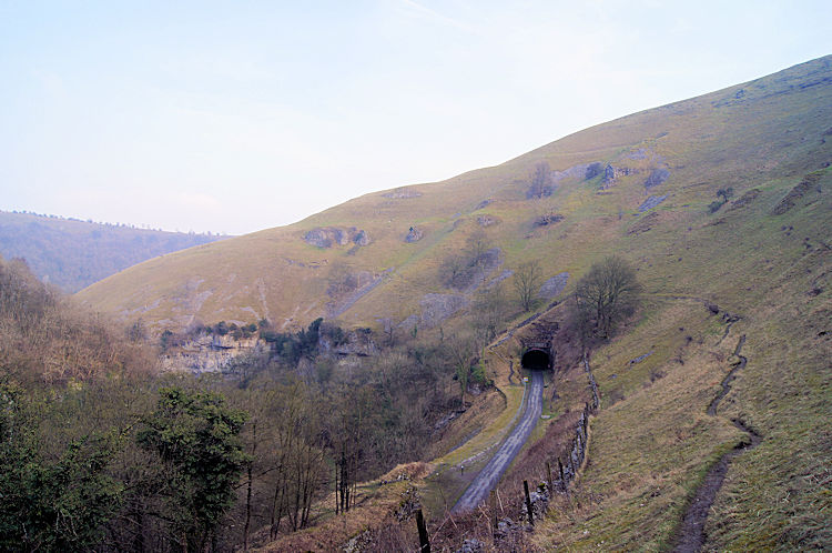 Looking down on the Monsal Trail and Miller's Dale