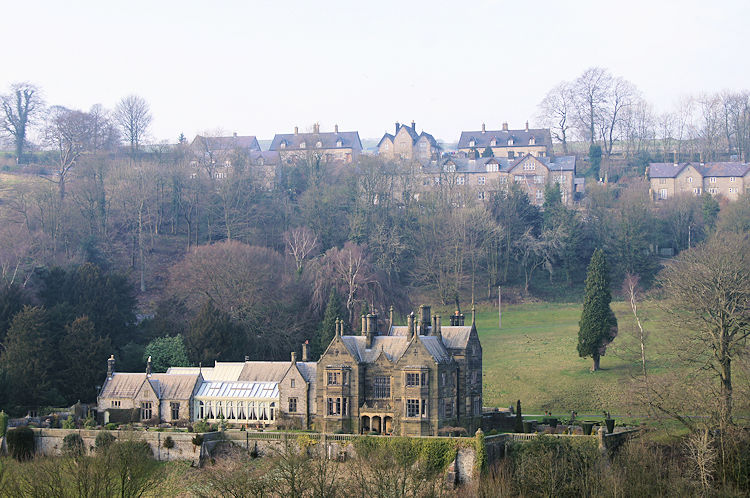 Cressbrook Hall and the village