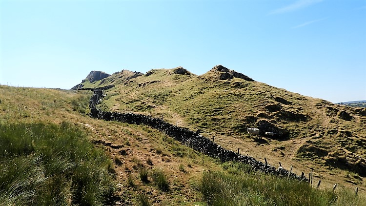 South west flank of Chrome Hill