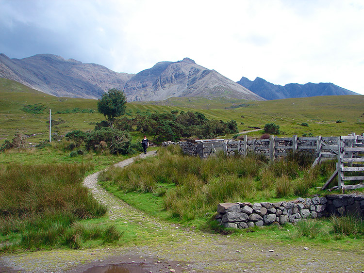 Looking back to the Cuillins from Glenbrittle