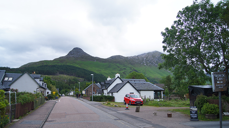 View to the Pap from Glencoe village