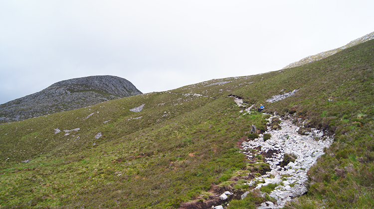 Climbing to the bealach