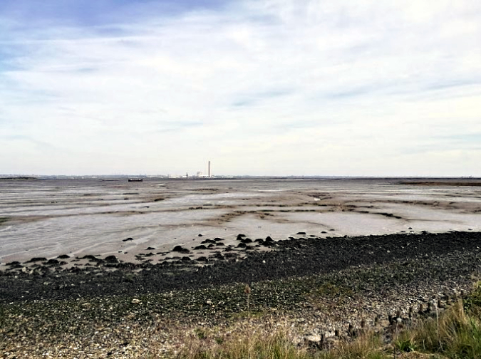Views over Rainham Creek with the now demolished Kings North power station chimney