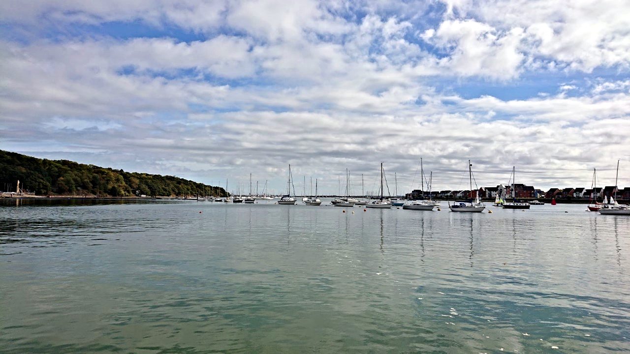 Yachts moored at Lower Upnor