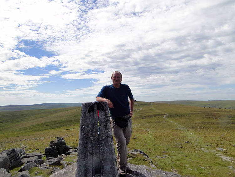 At the trig point on Yes Tor