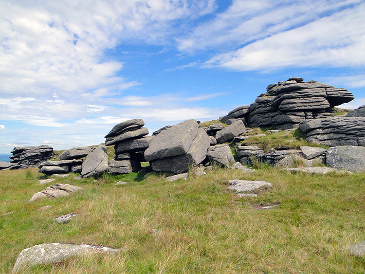 Scattered rocks on Yes Tor