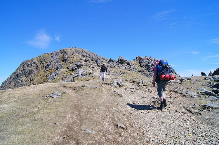 The final push to Penygadair