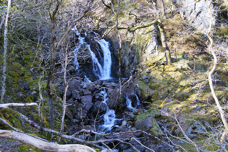 The waterfall at Dol-y-cae