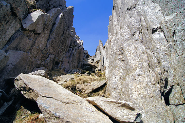 My gully route up to the heights of Tryfan