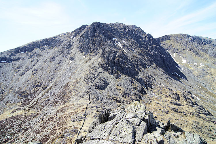 First view of Glyder Fach from Far South Peak
