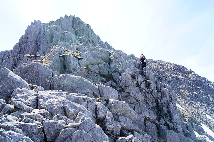 After the gully it is a lovely climb up Glyder Fach