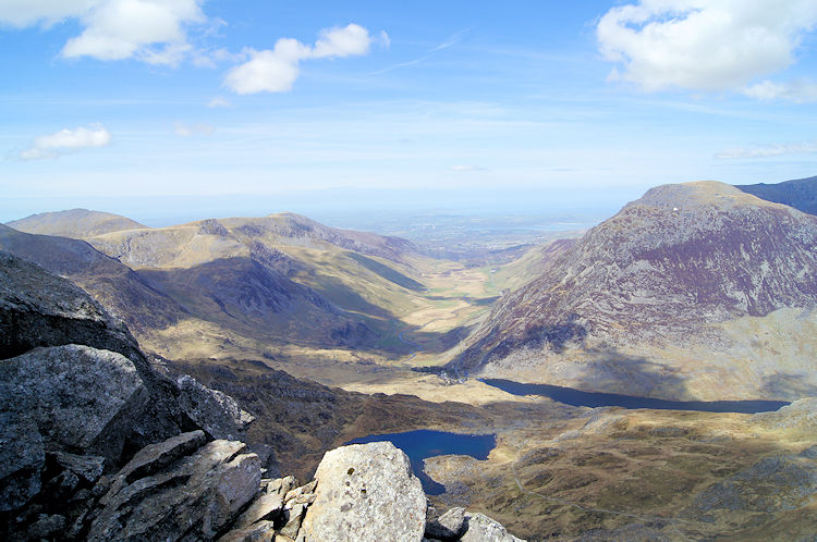 Looking north to Afon Ogwen valley and to Bangor