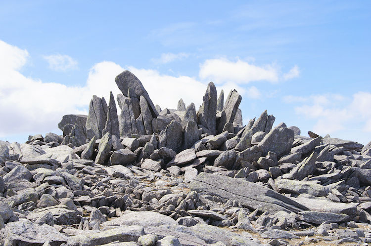 Magnificent rock structure on Glyder Fach