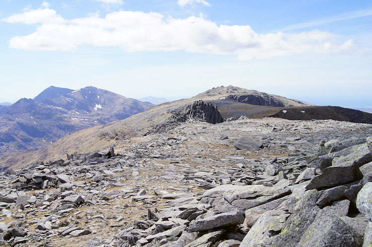 Looking west from Glyder Fach to Glyder Fawr