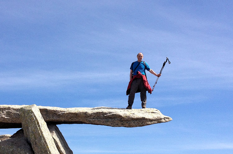 Standing on the Cantilever Stone, Glyder Fach