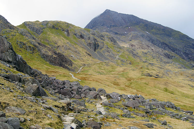 The path to Crib Goch from Pen y Pass