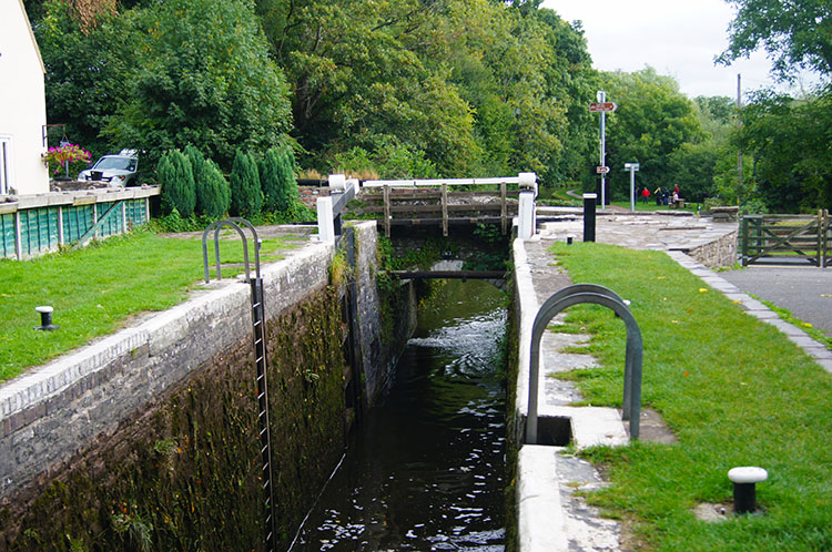 A lock on the canal near Brecon