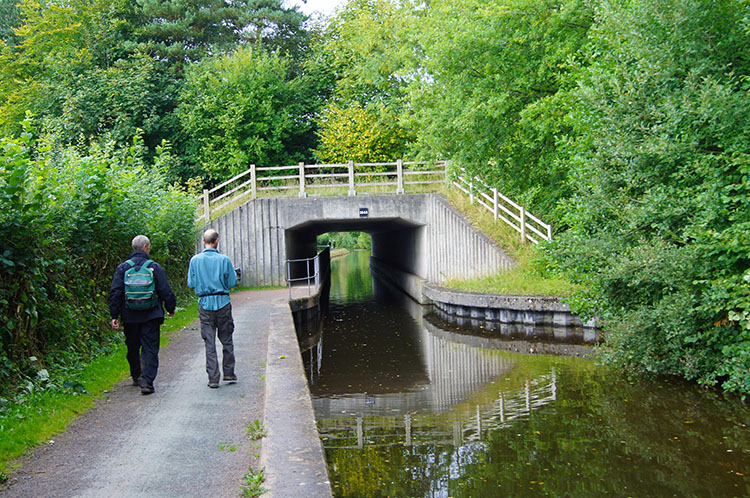 Walking along the canal back to Brecon