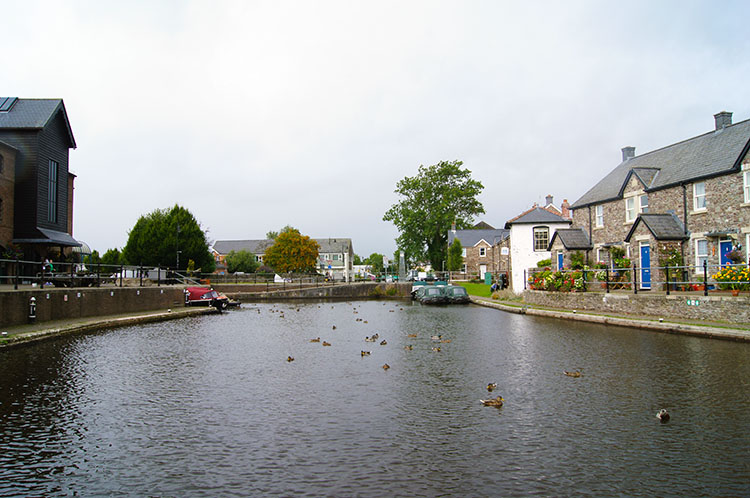 Finishing the walk at the canal basin in Brecon