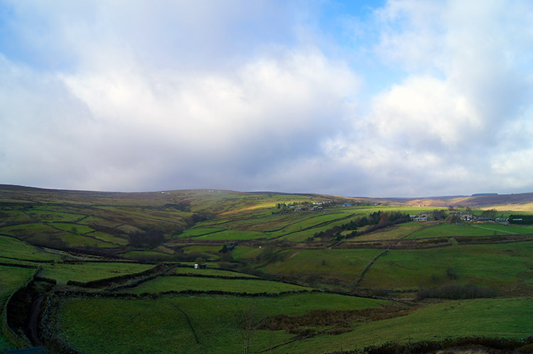 The view west to the moors